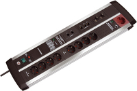 Brennenstuhl Premium-Protect-Line Automatic extension socket (Schwarz)