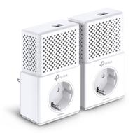 TP-LINK AV1000 1000Mbit/s Eingebauter Ethernet-Anschluss Weiß 2Stück(e) PowerLine Netzwerkadapter (Weiß)
