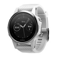 Garmin fēnix 5S Bluetooth Silber, Weiß Sportuhr (Silber, Weiß)