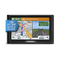 Garmin Drive 51 LMT-S Fixed 5Zoll TFT Touchscreen 170.8g Schwarz Navigationssystem (Schwarz)