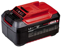 Einhell 4511437 Lithium-Ion (Li-Ion) 5200mAh 18V Wiederaufladbare Batterie (Schwarz, Rot)