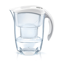 Brita Elemaris Pitcher-Wasserfilter 2.4l Weiß (Transparent, Weiß)