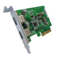 QNAP USB-U31A2P01 Eingebaut USB 3.1 Schnittstellenkarte/Adapter (Grün)