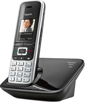 Gigaset S850A DECT-Telefon Anrufer-Identifikation Schwarz, Platin (Schwarz, Platin)
