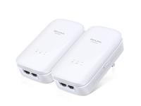 TP-LINK AV1000 Eingebauter Ethernet-Anschluss Weiß 2Stück(e) PowerLine Netzwerkadapter (Weiß)