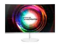 Samsung SyncMaster C27H711QEU 27Zoll Wide Quad HD LED Matt Gebogen Weiß Computerbildschirm (Weiß)