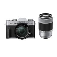 Fujifilm X T20 + XC16-50mm F3.5-5.6 OIS II + XC50-230mm F4.5-6.7 OIS II Systemkamera 24.3MP CMOS III 6000 x 4000Pixel Schwarz, Silber (Schwarz, Silber)