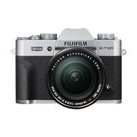 Fujifilm X T20 + XF 18-55mm F 2.8-4 R LM OIS Systemkamera 24.3MP CMOS III 6000 x 4000Pixel Schwarz, Silber (Schwarz, Silber)