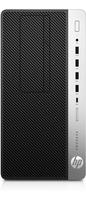 HP ProDesk 600 G3 Microtower-PC (Schwarz, Silber)
