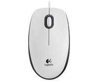 Logitech M100 USB Optisch 1000DPI Ambidextrös Weiß Maus (Weiß)
