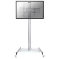 Newstar Verschiebbarer LCD/LED/Plasma-Bildschirmwagen (Silber)