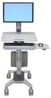 Ergotron WorkFit C-Mod, Single Display Sit-Stand Workstation (Grau)