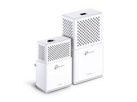 TP-LINK AV1000 Powerline Wi-Fi Kit 1000Mbit/s Eingebauter Ethernet-Anschluss WLAN Weiß 2Stück(e) PowerLine Netzwerkadapter (Weiß)