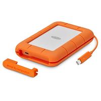 LaCie Rugged Thunderbolt USB-C 5000GB Silber Externe Festplatte (Orange, Silber)