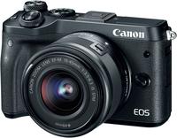Canon EOS M6 + EF-M 15-45mm 3.5-6.3 IS STM 24.2MP CMOS 6000 x 4000Pixel Schwarz (Schwarz)