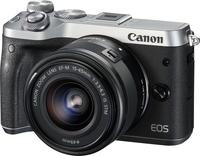 Canon EOS M6 + EF-M 15-45mm 3.5-6.3 IS STM 24.2MP CMOS 6000 x 4000Pixel Schwarz (Schwarz, Silber)