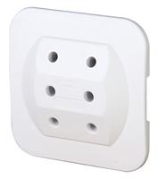 Kopp 174902005 Typ C (Euro-Stecker) Weiß Netzstecker-Adapter (Weiß)