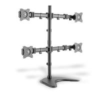 ASSMANN Electronic Universal Vierfach Monitor Halter mit Stand/Klemm Montage (Schwarz)