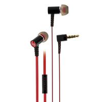Vivanco 37575 im Ohr Binaural Verkabelt Schwarz, Rot Mobiles Headset (Schwarz, Rot)