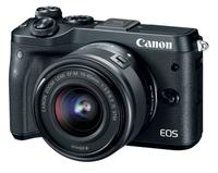 Canon EOS M6 Systemkamera 24.2MP CMOS 6000 x 4000Pixel (Schwarz)