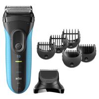 Braun Series 3 Shave&Style 3010BT Folienschaber Trimmer Schwarz, Blau Herrenrasierapparat (Schwarz, Blau)