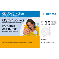 HERMA CD/DVD-Papierhüllen weiß mit Klebefläche 25 St. (Weiß)