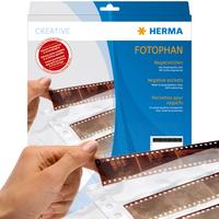 HERMA Negativhüllen, transparent, für 7 x 5 Streifen, 100 St. (Transparent)