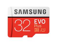 Samsung EVO Plus MB-MC32G 32GB MicroSDHC UHS-I Klasse 10 Speicherkarte (Rot, Weiß)