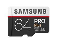 Samsung PRO Plus MB-MD64G 64GB MicroSDXC UHS-I Klasse 10 Speicherkarte (Schwarz, Weiß)