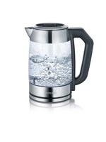 Severin WK 3477 1.7l 2200W Schwarz, Silber Wasserkocher (Schwarz, Silber, Transparent)