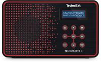 TechniSat TECHNIRADIO 2 Tragbar Analog & digital Schwarz, Rot Radio (Schwarz, Rot)