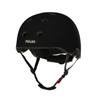 Melon Helmets Core Vollschale XXS/S Schwarz Fahrradhelm (Schwarz)