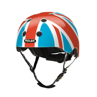 Melon Helmets Union Jack Summer Sky Vollschale XL/XXL Blau, Rot, Weiß Fahrradhelm (Blau, Rot, Weiß)