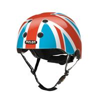 Melon Helmets Union Jack Summer Sky Vollschale M/L Blau, Rot, Weiß Fahrradhelm (Blau, Rot, Weiß)