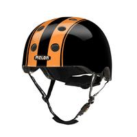 Melon Helmets Double Orange Black Vollschale M/L Schwarz Fahrradhelm (Schwarz, Orange)