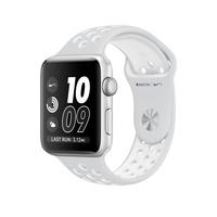 Apple Watch Nike+ OLED 34.2g Silber Smartwatch (Platin, Weiß, Silber)