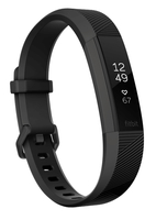 Fitbit Alta HR Wristband activity tracker OLED Kabellos Schwarz, Edelstahl (Schwarz, Edelstahl)