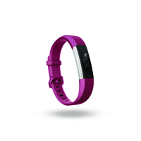 Fitbit Alta HR Wristband activity tracker OLED Kabellos Edelstahl (Fucsia, Edelstahl)