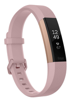Fitbit Alta HR Wristband activity tracker OLED Kabellos Rosa-Goldfarben (Rosa-Goldfarben)