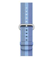 Apple 38 mm Armband aus gewebtem Nylon, Seeblau (Blau)