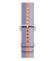 Apple 42 mm Armband aus gewebtem Nylon, Orange (Blau, Orange)