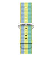 Apple 42 mm Armband aus gewebtem Nylon, Zitronengelb (Blau, Grün, Limette)