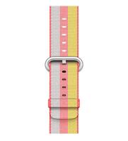 Apple 42 mm Armband aus gewebtem Nylon, Rot (Grau, Rot, Gelb)