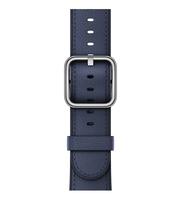 Apple 38 mm Klassisches Lederarmband, Mitternachtsblau (Blau)