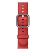 Apple 38 mm Klassisches Lederarmband, Rot (Rot)