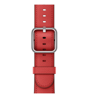Apple 42 mm Klassisches Lederarmband, Rot (Rot)