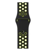 Apple 38 mm Nike Sportarmband, Schwarz/Volt (Schwarz, Limette)