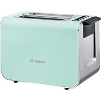 Bosch TAT8612 2Scheibe(n) 860W Blau, Silber Toaster (Blau, Silber)