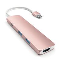 Satechi ST-CMAR USB 3.0 (3.1 Gen 1) Type-C 5000Mbit/s Rose Gold Schnittstellenhub (Rose Gold)