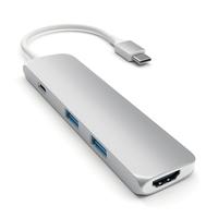 Satechi ST-CMAS USB 3.0 (3.1 Gen 1) Type-C 5000Mbit/s Silber Schnittstellenhub (Silber)